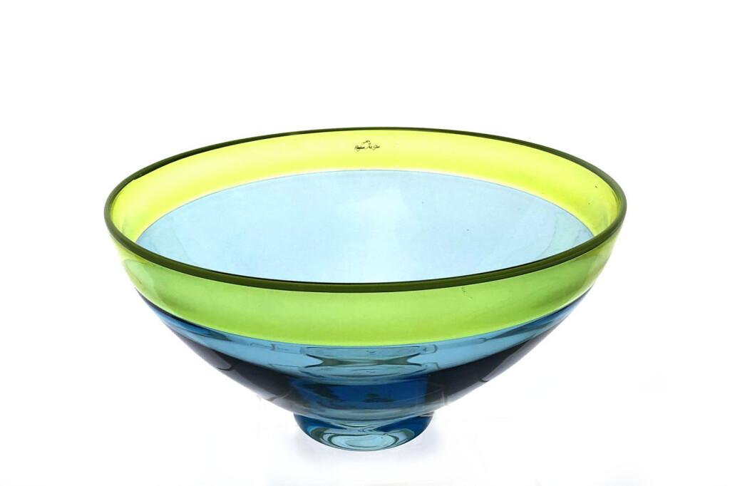 Aqua lime incalmo bowl